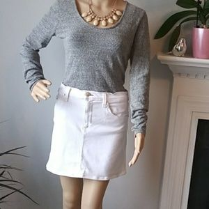 Rag & Bone bright white mini jean skirt